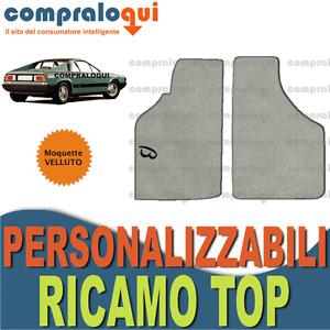 PER LANCIA BETA MONTECARLO TAPPETINI per AUTO in VELLUTO BEIGE + RICAMO TOP