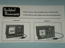 Analytical Measurements pH Controller Recorder RC/IC 1 WARRANTY