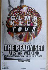 The Ready Set - GLAMOUR KILLS TOUR Promo Poster [2011] - VG++