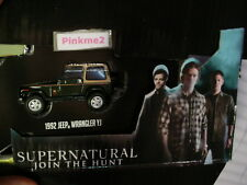 SUPERNATURAL Join the Hunt✰1992 JEEP WRANGLER YJ✰Loose Greenlight Hollywood✰1/64