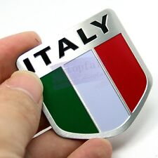 Italy IT Flag Power Flag Side Rear Emblem Badge Motor Sport Decals Sticker Car