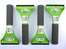 (3,20 €/unidad) 4x raspador con hoja de latón goma labio verde con mango Soft
