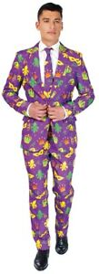 Mardi Gras Suit Adult Men's Costume Opposuits Slim Halloween