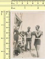 #012 Beach Scene Swimwear Men & Women, Guys Ladies Swimsuit old photo original