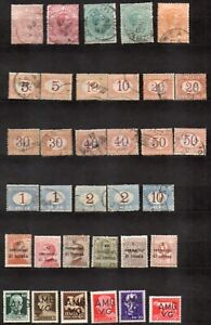 Italy, Several old used stamps