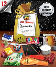 70th Birthday Survival Kit - Fun Novelty Gift