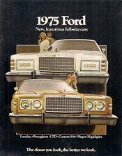 Ford Custom & LTD 1975 Canadian Market Sales Brochure Brougham Landau Squire