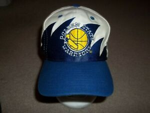 VTG Rare 1990's Golden State Warriors Sharktooth Logo Athletic One Size Hat Cap