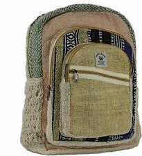 Cross Zip Hemp Bag Backpackers Canvas Ruck Sack Laptop Bags Hippy School Bag