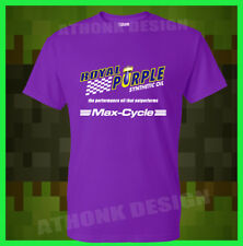 NEW ROYAL PURPLE SYNTHETIC OIL FOR MAX CYCLE T-SHIRT ATV, MOTOCROSS TEE