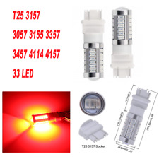 Red Parking Light T25 3057 3157 4157 33 SMD LED Bulb A1 For Plymouth AX
