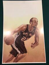 Manu Ginobili 11x17 Art Print 8/10 San Antonio Spurs Argentina