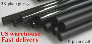 15mm x 10mm 12mm 13mm x 1000mm 3K Roll Wrapped Carbon Fiber Tube /Tubing/pipe US