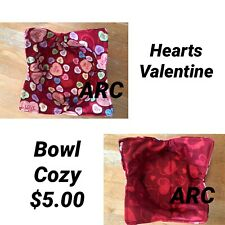 Valentine Hearts Inspired Fabric Microwave bowl holder, buddy, warmer, cozy NEW