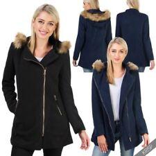 Abrigos y chaquetas de mujer Parka color principal azul de poliéster