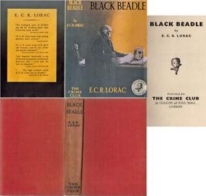 E C R Lorac  BLACK BEADLE  2nd w/fdj 1939 Crime Club Murder Mystery