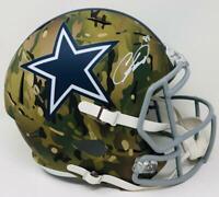 CEEDEE LAMB Autographed Dallas Cowboys Speed Camo Full Size Helmet FANATICS
