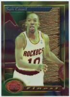 1993-94 Topps Finest Refractor Houston Rockets Basketball Card #169 Sam Cassell