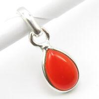 925 Sterling Silver Natural CARNELIAN Pendant ! Women Girls Fine Jewelry Gift