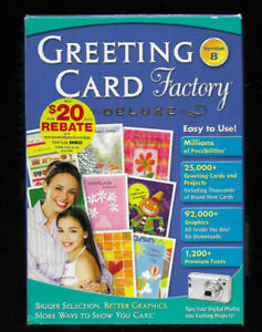 Greetings Card Factory Deluxe Version 8, Create Personalized Greeting Cards