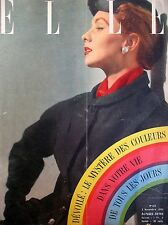 ELLE N° 0413 LE MYSTERE DES COULEURS PUB PIVER INCLINATION MAGAZINE FEMININ 1953