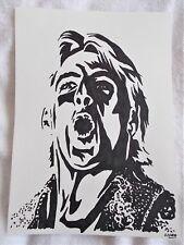 A4 Bolígrafo Marcador De Arte Dibujo luchador Ric Flair cartel B