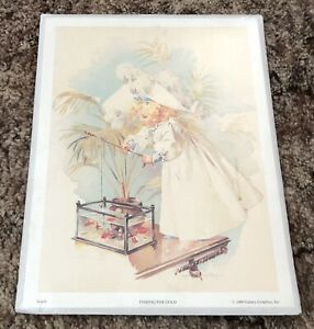 Fishing for Gold by Maud Humphrey 10 x 13 Art Print 1990 Gallery Graphics Sealed