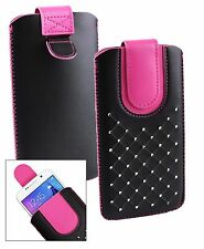 Stylish PU Leather Pouch Case Sleeve has Pull Tab Fits Allview Phones