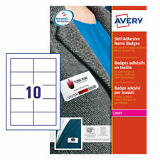 Avery L4786-20 Self Adhesive Name Badges, 80 x 50 mm, Repositionable, 10 Labels
