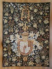 "Point de L'Halluin 36"" x 50"" French Tapestry Vintage"