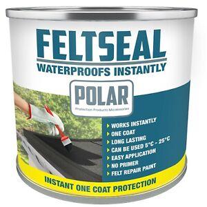 Polar Waterproof Grey Felt Roof Repair Paint Sealant for Flat Felt Roofs 500ml