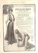 1903 Pinehurst N.C. Resort Golf Course Ad Cottages Vintage Original