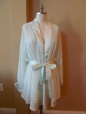 Designer VALENTINO INTIMO Gown & Robe PEIGNOIR SET Sheer CHIFFON Wedding LARGE