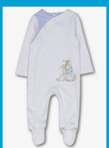 Peter Rabbit  Baby Boys Cotton Sleepsuit Babygrow Beatrix Potter Character