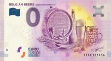 Billet Touristique 0 Euro --- Belgian Beers, Unesco world Heritage - 2018-1