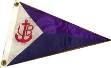 New Yacht Club Burgee, appliqued pennant, flag. marine decoration.