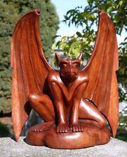 Gargoyle Holz Drache Troll Torwächter Teufel Wächter Gargoyle 01