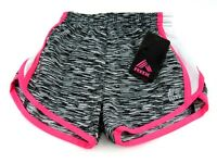 RBX Girls Active Running Shorts Black/White/KO Pink Size Large (6X) New