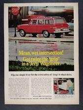 1968 Jeep Wagoneer color photo vintage print Ad