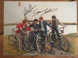 The Goonies Sean Astin & Jonathan Ke Quan Hand Signed 16x12 Photo PROOF
