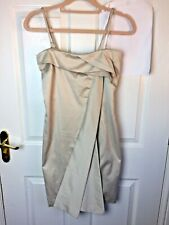 Villa Vanilla Berige Dress Party Prom detachable straps Size M NEW rrp £39.99