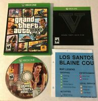 Grand Theft Auto V GTA 5 (XBOX ONE) Complete With Map- FAST SHIPPING