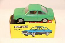 Lion Car 40 Daf 66 Coupe rare green very near mint in box very scarce model