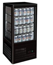 Black Four-Sided Countertop Display Merchandiser Fridge/