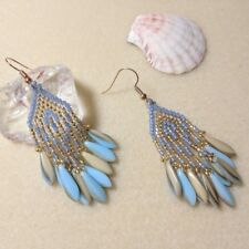 Earrings with Fringe   Seed beads   Fringed   Boho   Handmade Jewelry Earrings