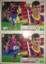 Neymar Jr Rookie 2 Versiones Últimos Fichajes UF Nº 1 Stickers Este 2013 2014