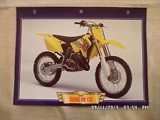 CARTE FICHE MOTO SUZUKI RM 125 2002