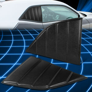 For 08-19 Dodge Challenger Quarter Side Window Scoop Louvers Cover Replacement