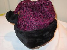 Santa Hat PINK Leopard Cheetah Sparkling Christmas Party Accessory