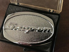 New! Vintage Snap-on Chrome On Solid Brass Snap On Tools Belt Buckle Usa Spp-509